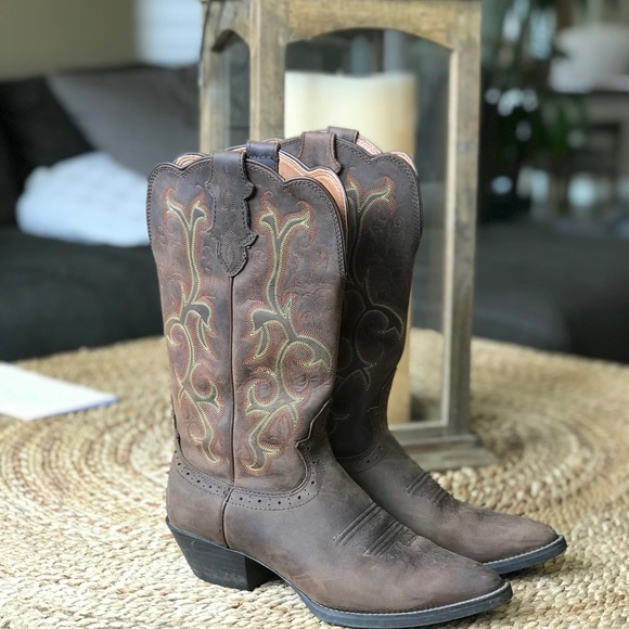 a6ed8970b77 Justin's McKayla Tan Cowboy Boots
